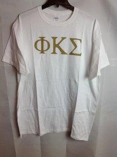 Super Savings - Phi Kappa Sigma Letter Tee - White