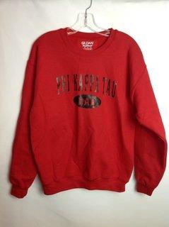 Super Savings - Phi Kappa Tau Fraternity Dad Sweatshirt - M - Red - Black