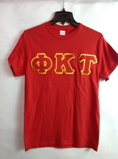 Super Savings - Phi Kappa Tau Lettered T-Shirt - RED