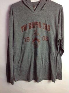 Super Savings - Phi Kappa Tau Unisex Triblend Long-Sleeve Hoodie - GREY