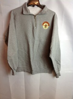 Super Savings - Pi Kappa Alpha Crest Emblem Quarter Zip Pullover - Gray