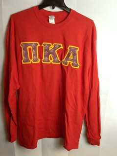 Super Savings - Pi Kappa Alpha Fraternity Crest - Shield Twill T-Shirt - Red