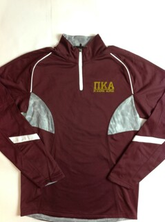 Super Savings - Pi Kappa Alpha Greek Letter Tenacity Pullover 1 of 3 - MAROON WHITE