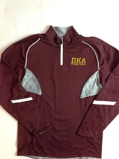 Super Savings - Pi Kappa Alpha Greek Letter Tenacity Pullover 2 of 3 - MAROON WHITE