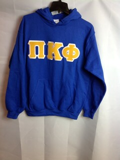 Super Savings - Pi Kappa Alpha Lettered Hooded Sweatshirt - Blue