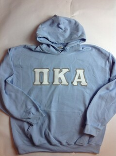 Super Savings - Pi Kappa Alpha Lettered Hooded Sweatshirt - LT BLUE