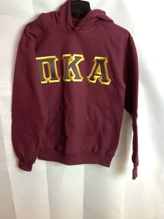 Super Savings - Pi Kappa Alpha Lettered Hooded Sweatshirt - Maroon