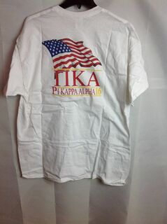 Super Savings - Pi Kappa Alpha Limited Edition Patriots Tee (design on back letters on front) - White