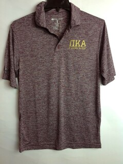 Super Savings - Pi Kappa Alpha Short Sleeve Tonal Polo - MAROON