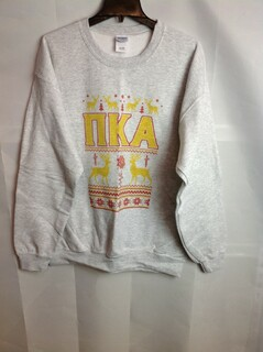 Super Savings - Pi Kappa Alpha Ugly Christmas Sweater Crewneck - Gray