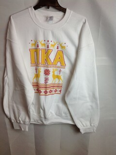 Super Savings - Pi Kappa Alpha Ugly Christmas Sweater Crewneck - White