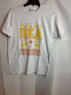 Super Savings - Pi Kappa Alpha Ugly Christmas Sweater T-Shirt - Gray