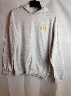 Super Savings - Psi Upsilon World Famous Crest - Shield Hooded Sweatshirt - Gray