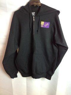Super Savings - Sigma Alpha Epsilon Flag Patch Zip Up Jacket - Black