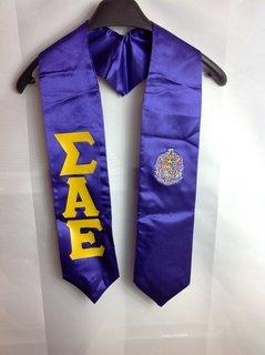 Super Savings - Sigma Alpha Epsilon Graduation Stole with Crest - Shield - Purple