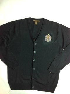 Super Savings -Sigma Alpha Epsilon Greek Letterman Cardigan Sweater - NAVY
