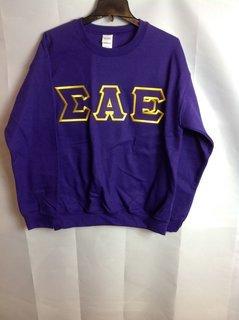 Super Savings - Sigma Alpha Epsilon Lettered Crewneck - Purple