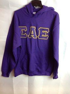 Super Savings - Sigma Alpha Epsilon Lettered Hooded Sweatshirt - Purple