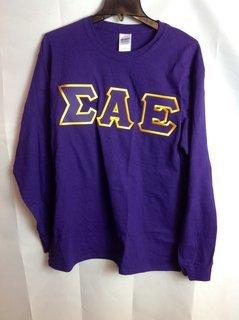 Super Savings - Sigma Alpha Epsilon Lettered Long Sleeve Tee - Purple