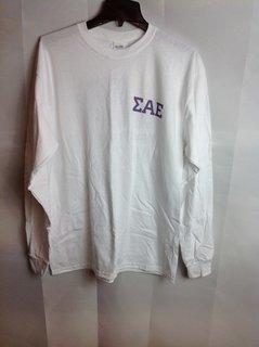 Super Savings - Sigma Alpha Epsilon Long Sleeve Flag Tee - White