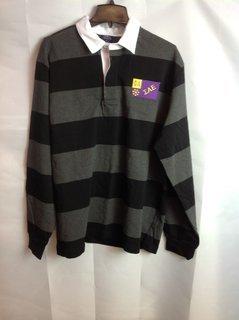 Super Savings - Sigma Alpha Epsilon Rugby Shirt - Black - Gray