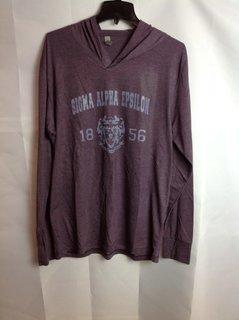 Super Savings - Sigma Alpha Epsilon Triblend Long Sleeve Hoodie - Vintage Purple