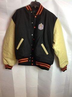 Super Savings - Sigma Alpha Epsilon Varsity Crest Shield Jacket - Black