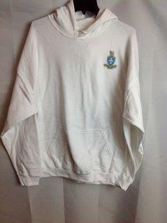 Super Savings - Sigma Chi Crest - Shield Hooded Sweatshirt - White