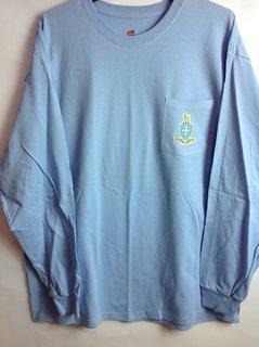 Super Savings - Sigma Chi Crest - Shield Long Sleeve Tee - LT BLUE