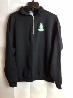 Super Savings - Sigma Chi Emblem 1/4 Zip Pullover - XL - Black