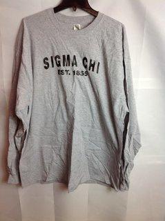 Super Savings - Sigma Chi Since Long Sleeve Shirt - Gray