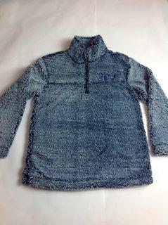 Super Savings - Sigma Gamma Rho Sherpa 14 Zip Pullover - VINTAGE NAVY