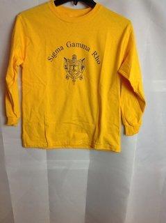 Super Savings - Sigma Gamma Rho World Famous Crest - Shield Tee - Gold