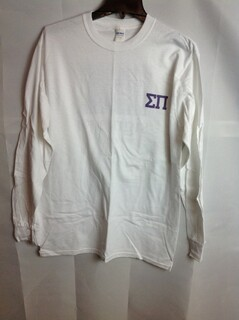 Super Savings - Sigma Pi Long Sleeve Flag T-Shirt - White