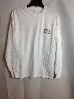 Super Savings - Sigma Pi Long Sleeve Whale T-Shirt - White - 1 of 3