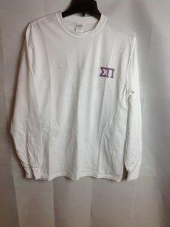 Super Savings - Sigma Pi Long Sleeve Whale T-Shirt - White - 2 of 3