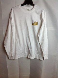 Super Savings - Sigma Pi Stripes Long Sleeve T-Shirt - Beta Nu - White