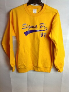 Super Savings - Sigma Pi Tail Crewneck - Gold