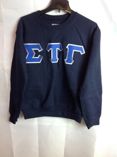 Super Savings - Sigma Tau Gamma Lettered Crewneck - Navy