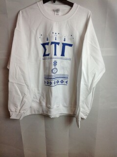 Super Savings - Sigma Tau Gamma Ugly Christmas Sweater Crewneck - White