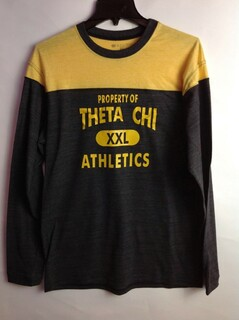Super Savings - Theta Chi Property Of Barrier Shirt - GREY GOLD