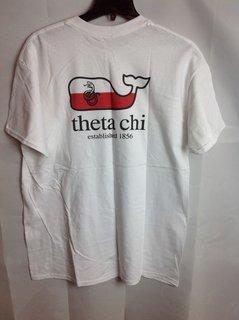 Super Savings - Theta Chi Whale T-Shirt - White