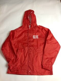Super Savings - Theta Chi Hooded Coach's Jacket - RED
