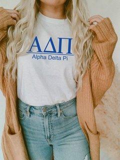 Alpha Delta Pi Comfort Colors Heavyweight T-Shirt