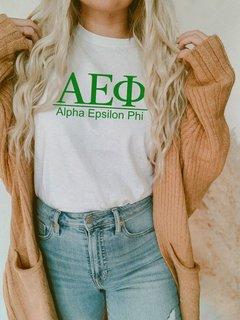 Alpha Epsilon Phi Comfort Colors Heavyweight T-Shirt