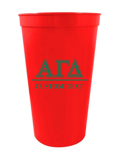 Alpha Gamma Delta Custom Greek Symbolized Stadium Cup