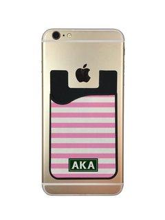 Alpha Kappa Alpha Watercolor Caddy Phone Wallet