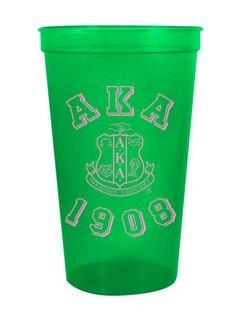 Alpha Kappa Alpha Custom Greek Crest Est Stadium Cup