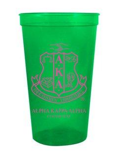 Alpha Kappa Alpha Custom Greek Crest Letter Stadium Cup