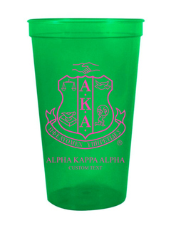 Alpha Kappa Alpha Custom Greek Crest Letter Stadium Cup